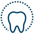 Icon of a single tooth to show that this dentist in Gastonia, NC offers Invisalign clear aligners